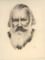 Brahms, based on drawing by