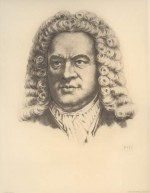 Bach, based on drawing by