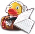 Mozart-Ente (Bade-Ente im Mozart-Design)