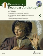 Renaissance Recorder Anthology 3 Vol. 3