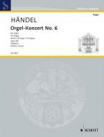 Organ Concerto No. 6 B Major op. 4/6 HWV 294 (score)