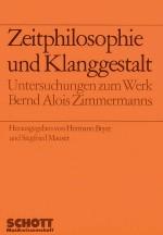 Zeitphilosophie und Klanggestalt