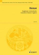 Englische Liebeslieder (study score)