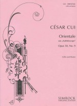 Orientale op. 50/9: cello and piano