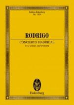 Concierto Madrigal (study score)