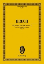 Violin Concerto No. 1 G minor op. 26 (study score)