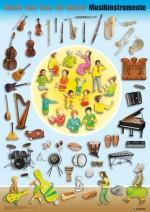 Musik und Tanz für Kinder - Instrumentenposter