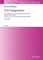 Vier Epigramme