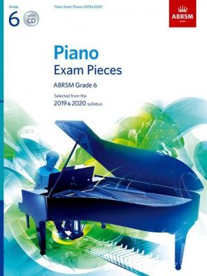 ABRSM Piano Exam Pieces Grade 6 2019 & 2020 + CD