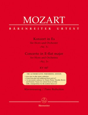 Concerto for Horn No.3 in E-flat (K.447) (Urtext).