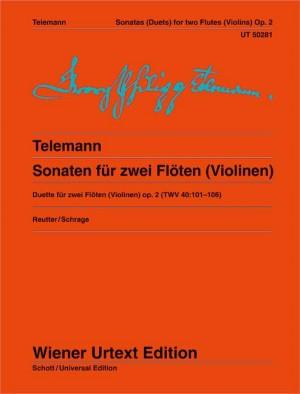 6 Sonatas for 2 flutes (or violins)