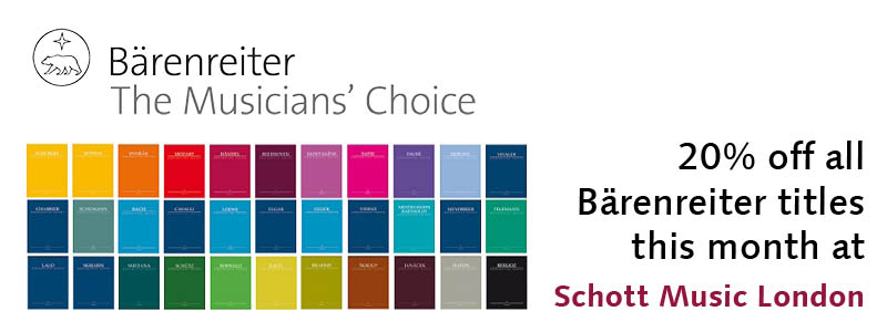 20% off Bärenreiter this month