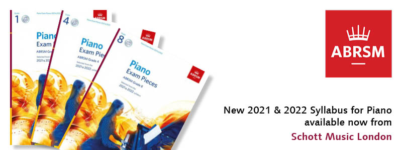 New 2021 & 2022 ABRSM Piano Syllabus in stock